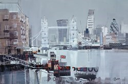 Butler's Wharf Study by Tom Butler -  sized 30x20 inches. Available from Whitewall Galleries